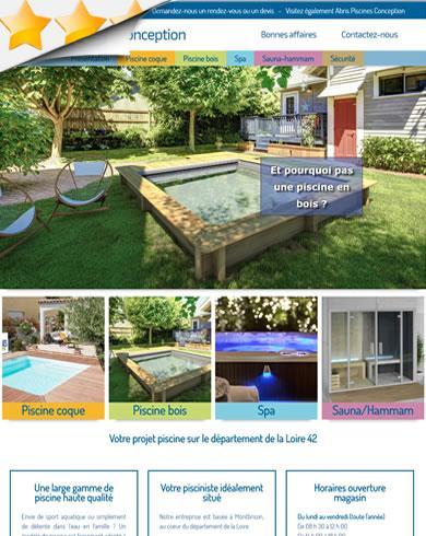 cr ation site loire piscines conception vente de piscine. Black Bedroom Furniture Sets. Home Design Ideas